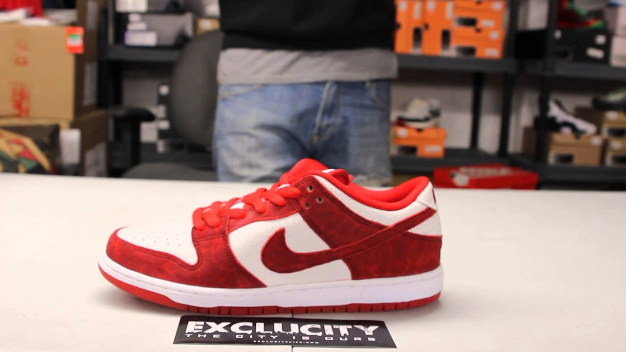 Nike Sb Dunk Low Pro Valentine S Day Unboxing Video At Exclucity