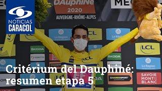 Critérium del Dauphiné 2020: resumen etapa 5, última etapa