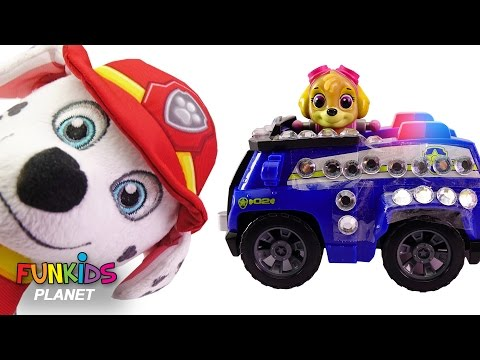 Thumbnail: Learn Colors Videos For Children Paw Patrol Marshall & Skye Police and Fire Truck Preschool