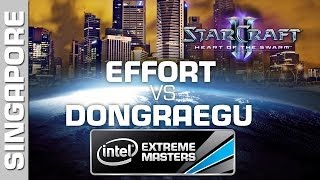 DongRaeGu vs. EffOrt - Group B - IEM Singapore - StarCraft 2