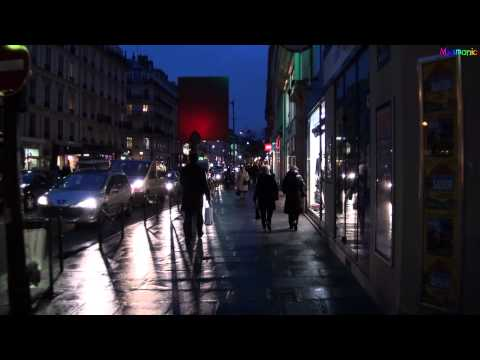 An Evening Stroll Along the Rue de Rivoli in Paris, France