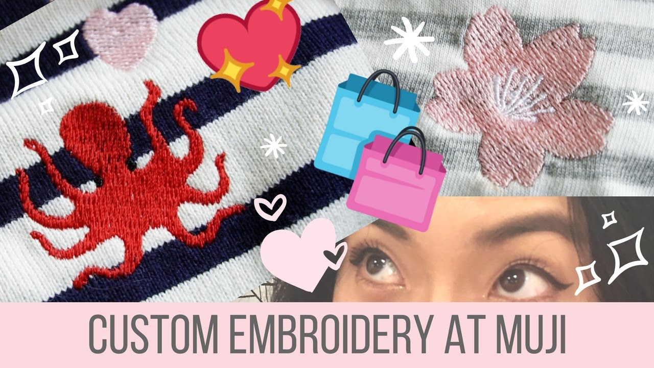 Custom Embroidery At Muji Youtube