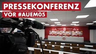 Pressekonferenz vor Aue | #AUEM05 | DFB-Pokal