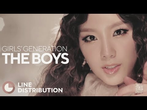 GIRLS' GENERATION - The Boys (Line Distribution)