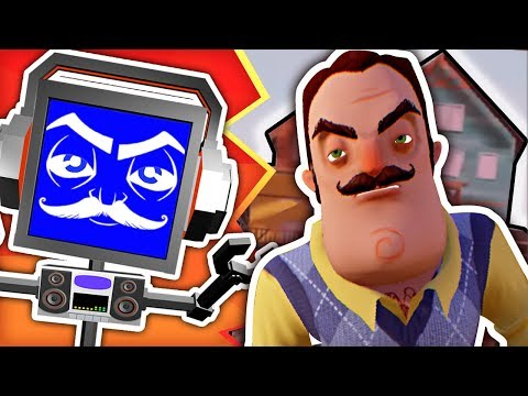 HELLO NEIGHBOR SONG ► Fandroid The Musical Robot 🏠