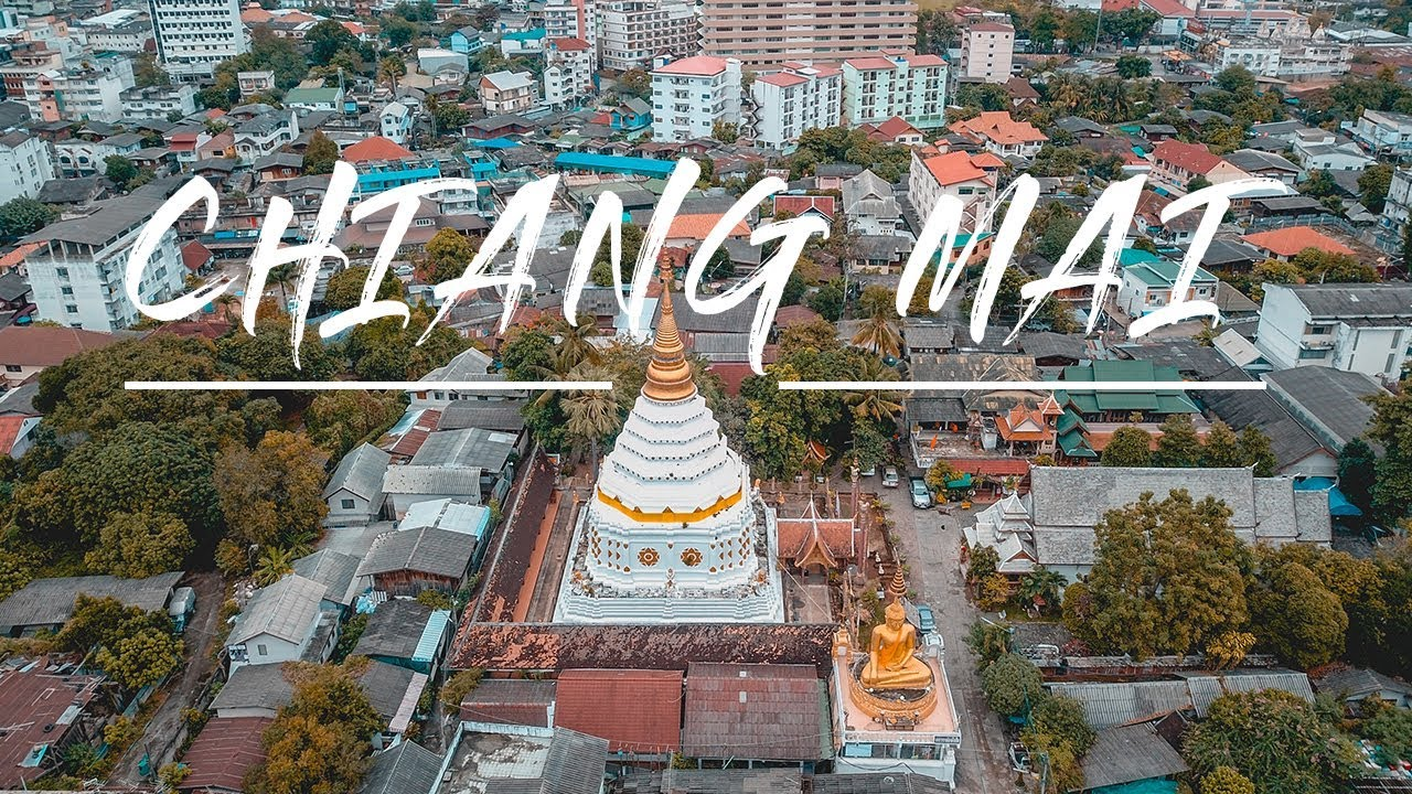 AMAZING CHIANG MAI FROM ABOVE | THAILAND DRONE FOOTAGE IN 4K