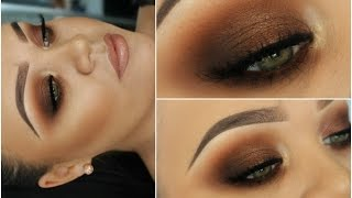 kim kardashian bronze smokey eyes   one brand tutorial freedom makeup