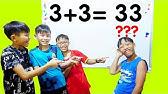 Hunter Kids Go To School Learn Colors Math (3 + 3 = 33 )  | Classroom Funny Nursery Rhymes