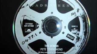 Pete Townshend & The Who - Four Faces (Demo) - Quadrophenia Director