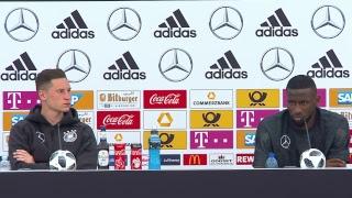 LIVE aus Südtirol: Pressekonferenz mit Julian Draxler und Antonio Rüdiger