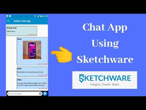 Create simple chat app in Sketchware