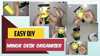 Easy DIY : Minor desk organiser (Pen/pencil holder)