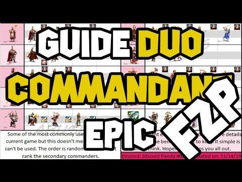 GUIDE F2P DUO COMMANDANTS EPIC BASIC ! PAIRING EPIC COMMANDERS BASIC - RISE OF KINGDOMS (ENG SUB)