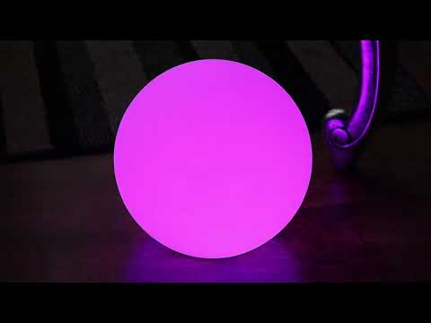 Lampe De Table Rechargeable Sans Fil Boule Led Multicolore Avec