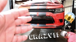 Lift breaks with 707HP CHARGER HELLCAT ON IT - Literally stuck in the air!! | FATKAT