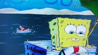 Spongebob lifeguard drowning patrick