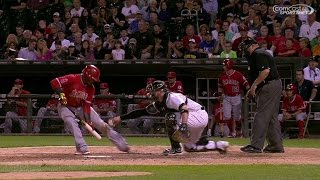 LAA@CWS: Aybar strikes out, call stands in 9th