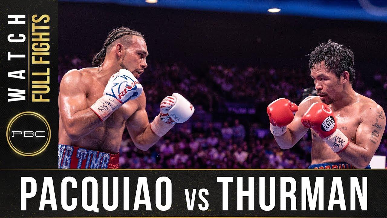 Pacquiao vs Thurman FULL FIGHT: July 20, 2019 - PBC on FOX PPV