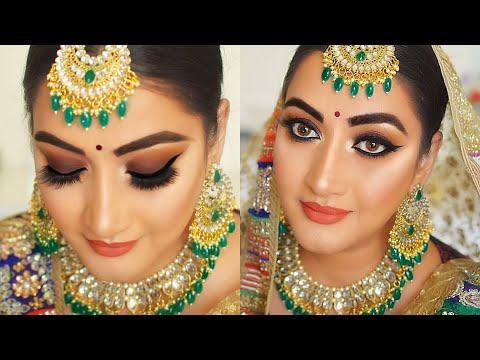 Indian Bridal makeup    Indian wedding makeup smokey eyes step by step makeup tutorial thumbnail