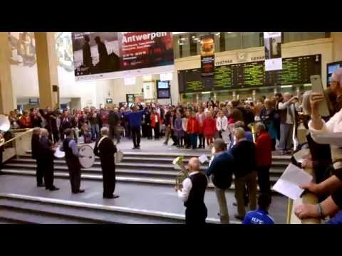 flashmob station Brussel Centraal