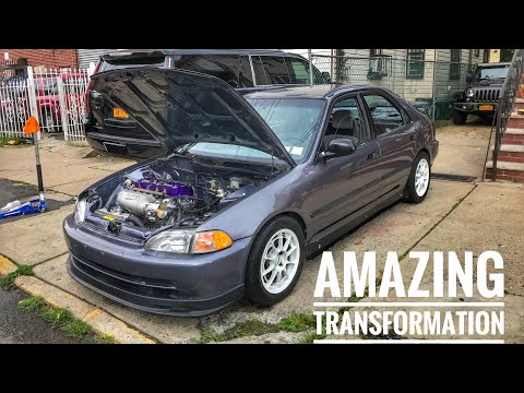K20 CIVIC GETS AMAZING NEW LOOK! ( TRACK INSPIRED )