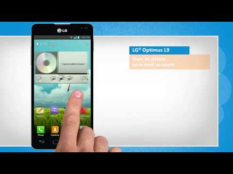 How to delete an e-mail account in LG® Optimus L9