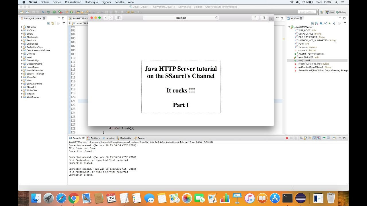 Create a simple HTTP Web Server in Java - Part 1