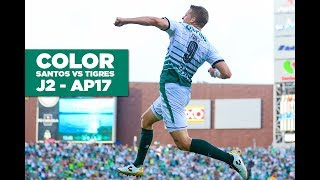 embeded bvideo Color: Santos vs Tigres J2 - Apertura 2017