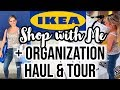 SHOP WITH ME 2019 AT IKEA + ORGANIZATION AND HOME DECOR HAUL & TOUR // BEAUTY AND THE BEASTONS