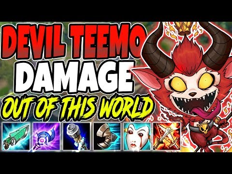 DEVIL TEEMO 😈 DAMAGE OUT OF THIS WORLD 😈 Best Teemo Season 10 Build - LoL TOP Teemo s10 Gameplay