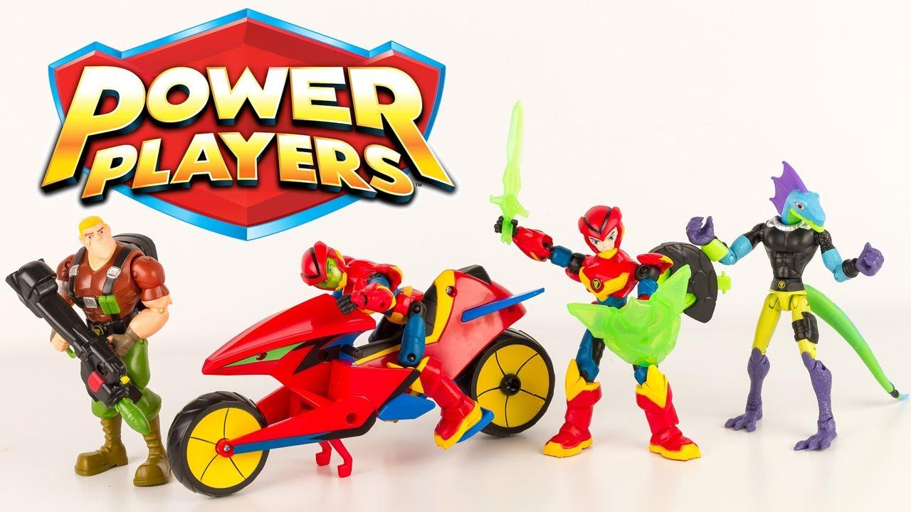 Power Players La Moto d'Axel et ses amis les figurines de la série sur France 4 Review Français