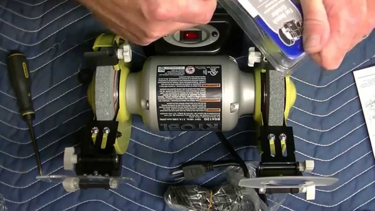 Ryobi 6 Inch Bench Grinder Unboxing W/ Assembly   YouTube