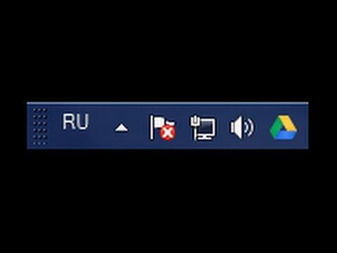 Как добавить значок языка на панель задач windows 7