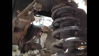 Быстрый ремонт стаканов и брызговиков. NISSAN LARGO. Перезалив от 2016 года.