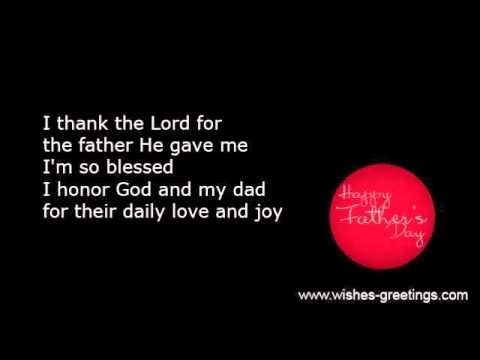 Religious christian fathers day poems and verses youtube religious christian fathers day poems and verses m4hsunfo