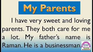 Gambar cover Essay on My Parents in English by Smile Please World
