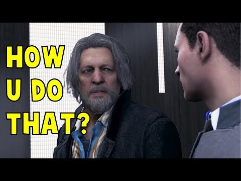 Hank Try to Flip the Coin Like Connor Does - Detroit Become Human HD PS4 Pro