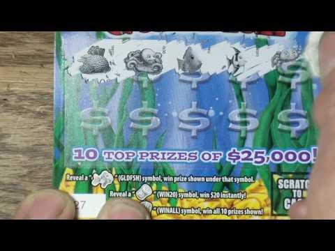 NEW PA LOTTERY SCRATCH TICKETS.  $2 GOLDFISH
