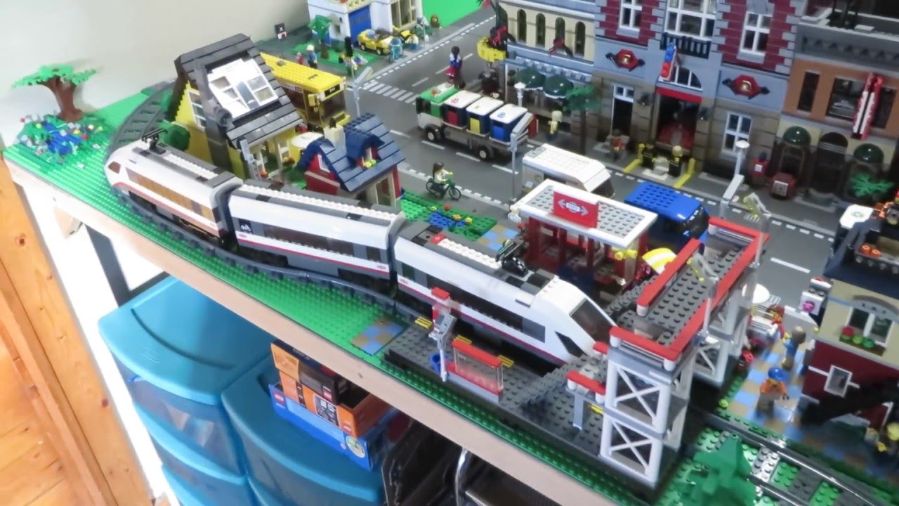 Lego City and Train Layout: May 2016 Update - YouTube
