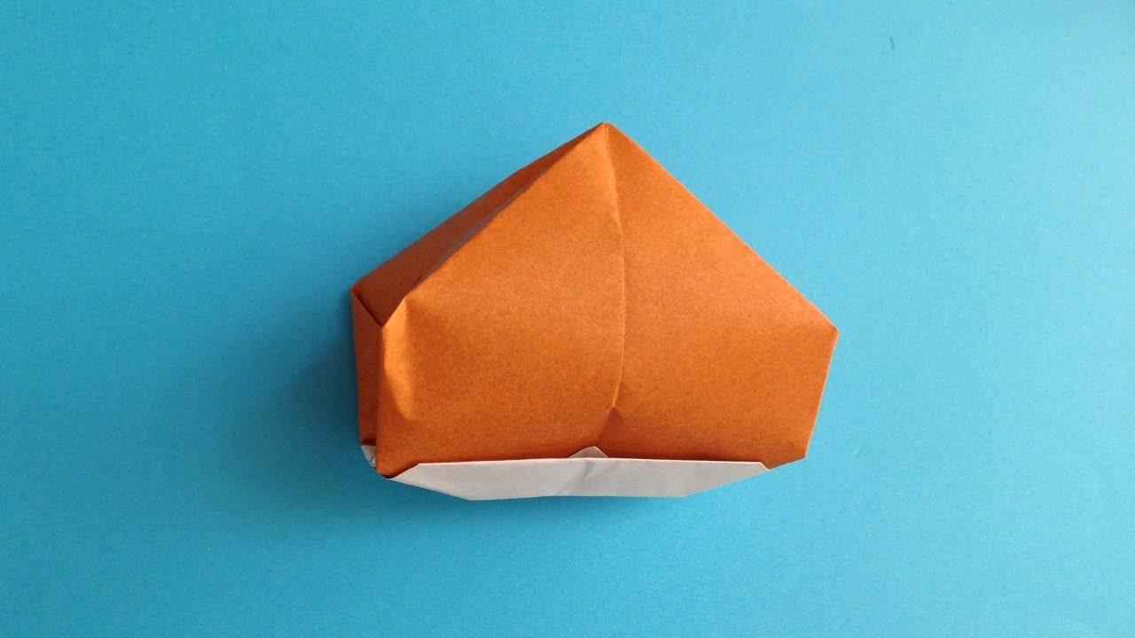 折り紙origami クリ 立体 簡単な折り方 Youtube 栗 折り紙 折り紙 折り紙 かわいい
