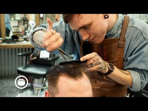 Great High Hairline Haircut with Beard Trim