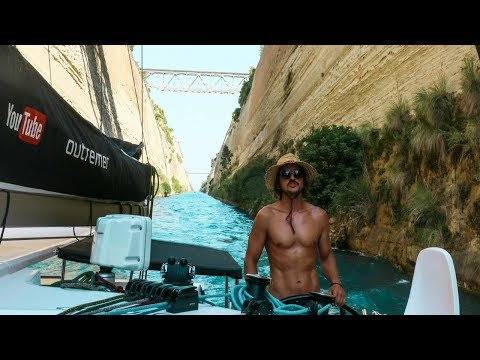 Our Journey through the Famous Corinth Canal! (Sailing La Vagabonde) Ep. 118