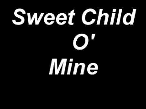 sweet child o mine lyrics - YouTube