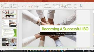 Becoming A Successful Arise IBO Training 2019