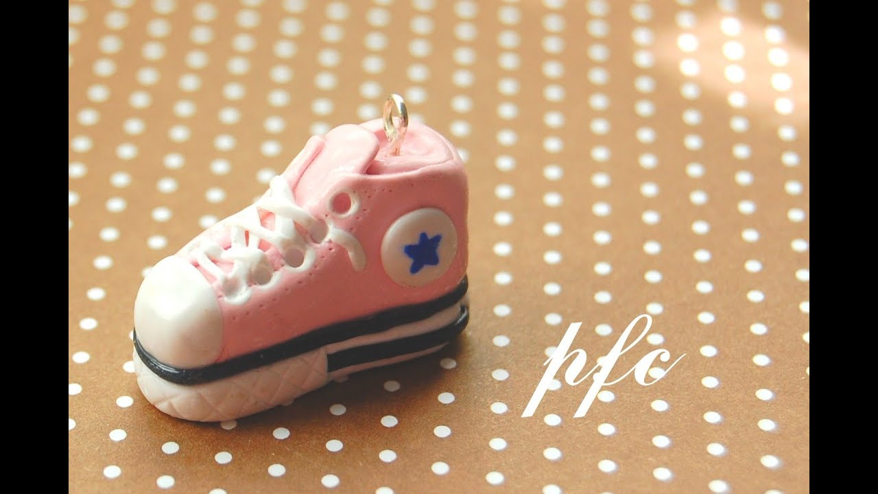 DIY Converse Shoe Polymer Clay Charm Tutorial