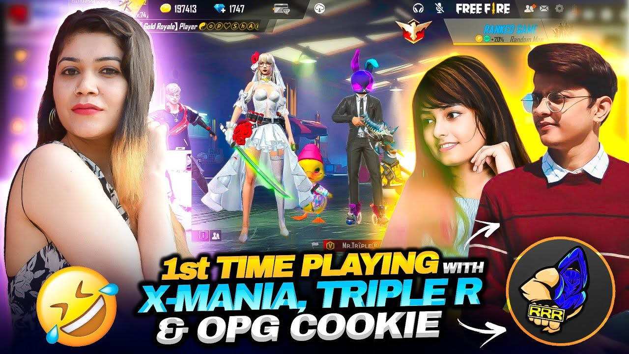 Playing For The 1st Time With Xmania, Triple R & Opg Cookie || Garena Free Fire || Bindass Laila
