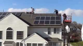 Residential hybrid Solar panel system designed to work on and off grid