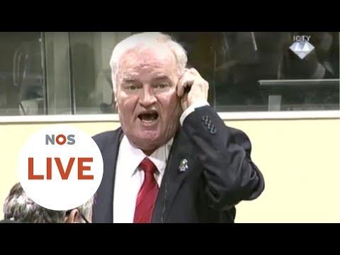 LIVE: Ratko Mladic krijgt levenslang voor o.a. genocide