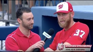 Stephen Strasburg gives update from spring training