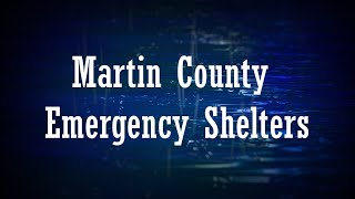Martin County Emergency Shelters 2021